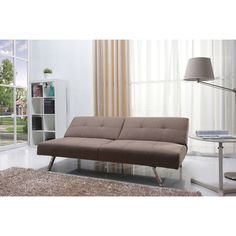 Gold Sparrow Victorville Foldable Futon Sofa Bed