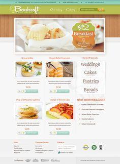 Bankroft Bakery Web design