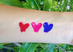 Jeffree Star Velour Liquid Lipstick Swatches L-R: Redrum, Prom Night, I'm Royalty