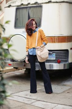 Wide leg jeans | At Home in Love