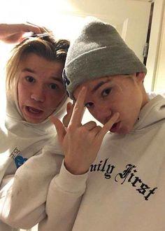 Marcus and Martinus Gunnarsen in a selfie in December 2017...
