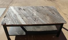 Downed Fence Reclaimed Wood Coffee Table - #DIY, #reclaimed, #wood, #Coffee, #table #purplemonkeymayhem,