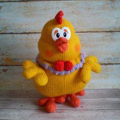 Amigurumi Toy Crocheted Chicken Kids Gift Home Decor Idea