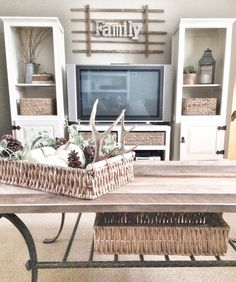 Rustic family room!