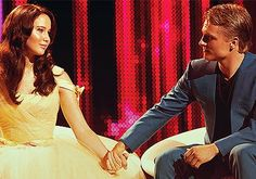Another Hunger Games still: They both looked so impeccably beautiful here.