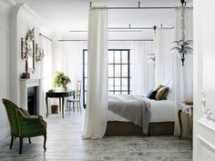 Belle Luxury Home Building Award 2017 (Alterations & Additions): Sydney Residence by Beebo Constructions. Design by Dylan Farrell Design and Thomas Hamel & Associates. Photograph by Prue Ruscoe. Mansion Designs, Master Bedroom, Bedroom Decor, Interior Design Gallery, Old Apartments, French Chic, Contemporary Bedroom, Dream Rooms, Beautiful Bedrooms