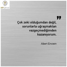 Önemli olan vazgeçmemek! Asla vazgeçme, başarının gerçek sırrı budur… #alinti #quote #AlbertEinstein #dontgiveup Bill Cosby, I Can Do It, Albert Einstein, Math Equations, Quotes, Istanbul, Iphone, Quotations, Quote