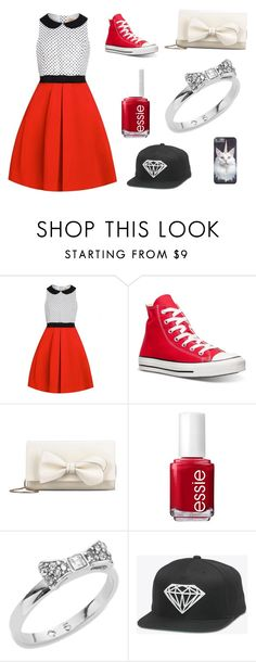 """Leia's set"" by ikkharag ❤ liked on Polyvore featuring Converse, RED Valentino, Essie, Kate Spade, women's clothing, women, female, woman, misses and juniors"
