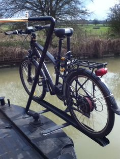 Boat Plans - bike rack on a narrowboat - Master Boat Builder with 31 Years of Experience Finally Releases Archive Of 518 Illustrated, Step-By-Step Boat Plans Canal Boat Interior, Barge Boat, Narrowboat Interiors, Boat Restoration, Duck Boat, Boat Projects, Plywood Boat, Boat Kits, Aluminum Boat