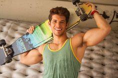 Julian Gabriel Hernandez By Leonardo Holanda Socialite Life Julian Gabriel, Skateboard Boy, Surf, Fitness Models, Great Smiles, Hot Hunks, Perfect Man, Male Body, Man Crush