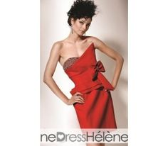 Short Red Strapless Cocktail Dresses