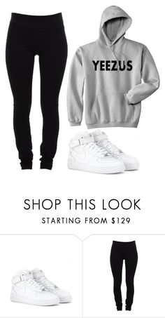 """""""And This Is Me"""" by marsophie ❤ liked on Polyvore featuring NIKE and Helmut Lang"""
