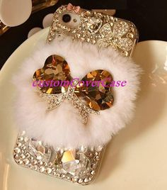 iPhone 5s fur Case bow iPhone 5c case ribbon by customCoverCase, $24.89