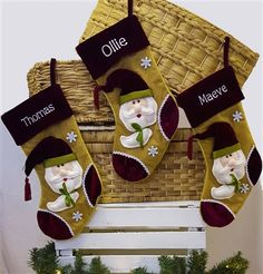 Personalised Christmas Stocking - Luxury Wine and Gold. Modern Christmas Stocking personalised for you. €20 | WowWee.ie