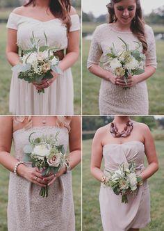 blush bridesmaid dresses maybe? @Krysti E Collier