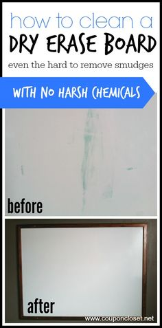How to Clean a Dry Erase Board - In this post I give you to EASY and effective ways to clan your dry erase boards - even the hard to remove smudges that you think will never come off!