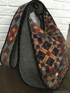 Patchwork Bags, Quilted Bag, Handmade Handbags, Handmade Bags, Red Velvet イェリ, Denim Rug, Crochet Bag Tutorials, Ethnic Bag, Bag Patterns To Sew