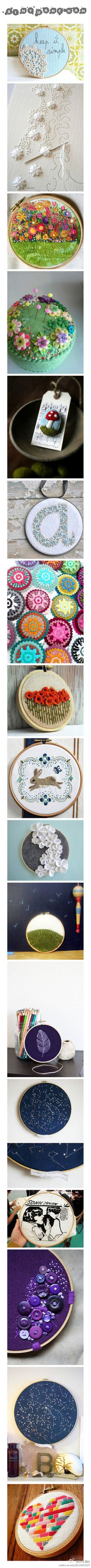 embroidery examples and uses!
