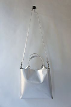 Stitch and Tickle Stella Bag - Lightweight - Matte Silver - with removable canvas pouch