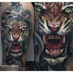 Tiger Tattoo - Tattoo - Color Tattoo - Arm Tattoo - Realistic Tattoo