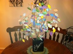 CrEatE: Projects by Jamie: Scrapbook Paper Tree Branch Centerpiece