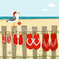 HO! HO! HO! Xmas at the beach. … Thinking bunting...