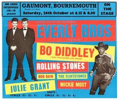 Everly Brothers, Bo Diddley poster tour - Bournemouth