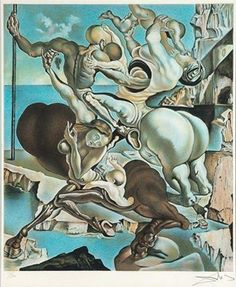 """Family of Marsupial Centaurs"" Salvador Dali, 1941. 1469999_10154140436866042_1660366705210908461_n.jpg (324×395)"