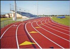 running. preferably on some type of track.