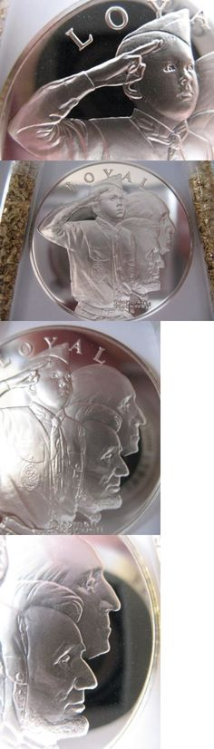 Bullion: 7 8 -Oz.Sterling Silver Coin Boy Scouts Of America Mint Condition- Loyal + Gold -> BUY IT NOW ONLY: $66.95 on eBay!