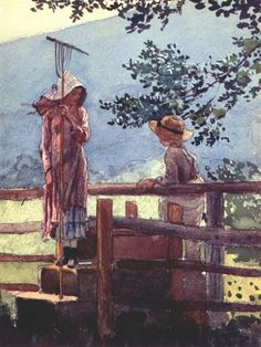 View Spring by Winslow Homer on artnet. Browse upcoming and past auction lots by Winslow Homer. Winslow Homer Paintings, Spring Painting, Oil Painting Reproductions, Museum, Illustrations, Art Themes, American Artists, Les Oeuvres, Watercolor Paintings