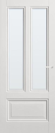 Panel Door Wealth with clear faceted glass | Classical | stock | Bruynzeel Doors