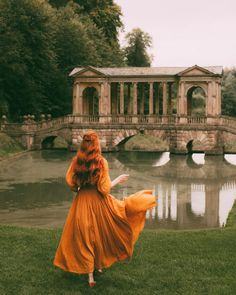 Princess Katherine strolled along the pond to the bridge. Her place of solace. She needed it now more than ever, with the news she'd just recieved. Fantasy Photography, Girl Photography, Princess Aesthetic, Anne Shirley, Montage Photo, Foto Pose, Ginger Hair, Aesthetic Pictures, Belle Photo