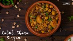 Home Cooking Kabuli Chana Biryani Prep time: 8 hrs Cook time: 90 mins Number of Servings: persons Ingredients Kabuli Chana - 200 Gms(Soaked Overnight)To make fried Paneer Recipes, Veg Recipes, Vegetarian Recipes, Cooking Recipes, Healthy Recipes, Cuban Recipes, Chana Recipe, Biryani Recipe, Kabuli Chana