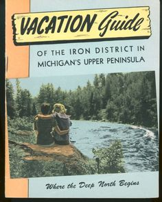 1940s Michigan Iron District Vacation Guide Travel Booklet Brochure MI | eBay