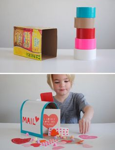 Mer Mag Duct Tape Mail Box – very cute and so clever for classroom Valentine parties!