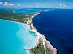 Glass Window Bridge, Eleuthera, Bahamas - Atlantic meeting the Carribean