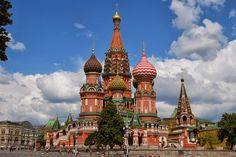 The Cathedral of Vasily the Blessed, commonly known as Saint Basil's Cathedral, Kremlin, is a former church in Red Square in Moscow, Russia. Description from awesomeplacesonearth.com. I searched for this on bing.com/images