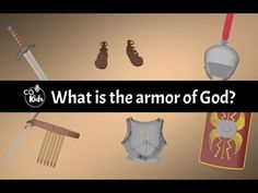 The entire armor of God, along with prayer, is described in Ephesians (6:14-18 GNT Watch Now! Bible Videos For Kids, Armor Of God Lesson, Book Of Ephesians, Homeschooling, Armour, Kindergarten, Prayers, Castle, Christian