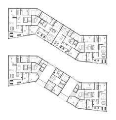 Schwarzpark by Miller & Maranta — Atlas of Places Concrete Facade, Concrete Structure, Architecture Concept Drawings, Architecture Plan, Flat Plan, Hotel Floor Plan, Architectural Floor Plans, Plan Sketch, Mix Use Building