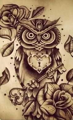 amazing owl tattoo designs - Google Search