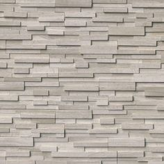Add an element of character to your to your home decor with the selection of this MSI White Oak Ledger Panel Honed Marble Wall Tile. Honed Marble, Marble Wood, Gray Marble, Marble Tiles, Stone Siding, Stone Cladding, Wall Cladding, Grey Oak, White Oak