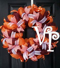 Check out this item in my Etsy shop https://www.etsy.com/listing/268450808/virginia-tech-wreath