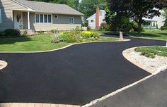 beautiful blacktop driveway Driveway Paving, Driveway Design, Driveway Ideas, Blacktop Driveway, Paving Contractors, Paving Ideas, Suffolk County, Nassau County, Low Maintenance Garden
