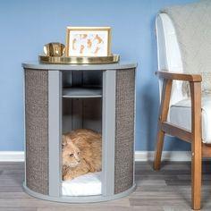Cat Furniture, Furniture Design, Furniture Making, Sleeping Nook, Bed End, Cat Scratching Post, Cat Scratcher, Types Of Beds, Cat Friendly Home