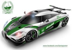 The Koenigsegg's 1340bhp One:1 would make one hell of a Dubai Police car. Click on the pic to find out more....