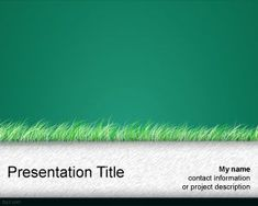 Green Grass PowerPoint Template PPT Template