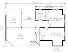 House Plan 74100 - 2nd floor