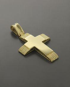 Σταυρός βαπτιστικός Χρυσός Κ14 Cross Art, Christian Symbols, Mens Crosses, Gold Chains For Men, Orthodox Christianity, Holy Cross, Cross Pendant, Christening, Jewelery