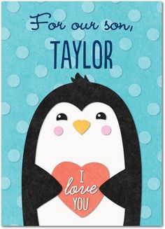 Penguin Love - Valentine's Day Cards in Paradise | Magnolia Press